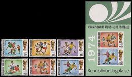 Soccer Football Togo #1017/22 + Bl 81 1974 World Cup Germany MNH ** - Fußball-Weltmeisterschaft