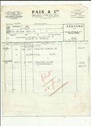 Facture De PAIX & Cie Departement Paxalumin  Douai_Usine A Corbehem 59 Adressé A Mr Talpone  Etancheité Anglet 1961 - Autres