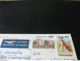 STORIA POSTALE FRANCOBOLLO COMMEMORATIVO LEONE CANE TANZANIA MVULANA WAKATI WA JANDO  RAGAZZO PERIODO CIRCONCISIONE - Tanzania