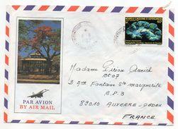 """Nlle Calédonie--1982--Lettre Pour Auxerre-89--tp""""coraux Fluorescents"""" Seul Sur Enveloppe Illustrée Recto-verso - Briefe U. Dokumente"""