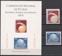 Soccer Football Chile #804/5 + Bl (804/5) 1974 World Cup Germany MNH ** - Coppa Del Mondo