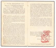 DP Sterbebild Krieg Oorlog 40-45 Arthur Verhoustraete ° Langemark BE † Kamp Mauthausen AT - Geheim Leger - Ieper - Devotion Images