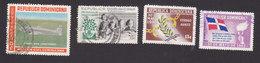Dominican Republic, Scott #C112, C114, C122-C123, Used, Plane, Children, End Of Trujillo Era, Issued 1960-62 - Dominicaine (République)