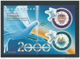 Tonga 2000 Millennium Peace Dove Miniature Sheet MNH - Tonga (1970-...)