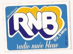Autocollants Stickers Thème Radio RNB Radio Nuée Bleu Strasbourg 89.5 - Autocollants