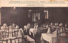 ROUEN - Hôtel LISIEUX - Rue De La Savonnerie - La Salle à Manger Et L'entrée - Rouen