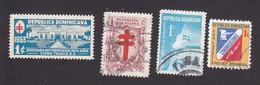 Dominican Republic, Scott #RA16, RA26, RA44, RA69, Mint Hinged/Used, TB Dispensary, Cross, Schoolyard , Issued 1953-74 - Dominican Republic