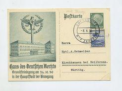 1937 3.Reich Zeppelin LZ127 Probefahrt Bordpost Auf Ganzsache P 237 Mit Zusatzfrankatur Mi  606 Sieger 379 - Germany