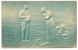 """106 -L' Angelus D' Après Millet """" En Relief"""" - Peintures & Tableaux"""