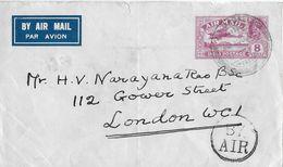 INDIA → Par Avion  Letter To London 1930 - Poste Aérienne