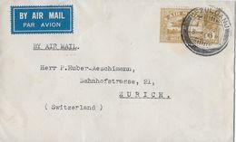 INDIA POSTAGE  → Air Mail Letter From Ufzulganj To Zürich Switzerland 1930   ►RRR◄ - Poste Aérienne