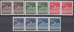 BRD  506-510 V,  Postfrisch **, Waagerechte Paare, Brandenburger Tor 1966 - Nuevos
