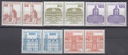 BRD  1139-1143, Postfrisch **, Waagerechte Paare, Burgen Und Schlösser 1982 - [7] República Federal