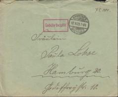 INFLA  DR Gebühr Bezahlt, Im Rechteck Auf Brief  Mit Stempel: Hannover-Buchholz 17.9.1923 - Deutschland