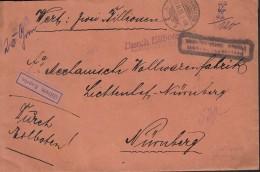 """INFLA  DR """"Freigebühr Bezahlt Postm. Berchtesgaden"""" Im Rechteck Auf Eil-Wert-Brief Mit Stempel: Berchtesgaden 21.11.1923 - Infla"""