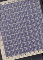 INFLA  100er BOGEN  DR 185, Postfrisch **, HAN 3354.22, Plattennummer 1, RandV/B, Rekl. III - Deutschland