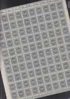 INFLA  100er BOGEN  DR 273, Postfrisch **, Rechter Unterbogen (4), Bogenzähler: 2744 - Infla