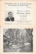 HOMENAJE AL PINTOR ARGENTINO EDUARDO LUISI JUNIO-JULIO DE 1975 HONORABLE SALA DE REPRESENTANTES DE LA CIUDAD DE BUENOS A - Programs