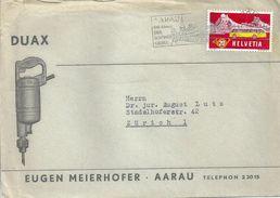 "Motiv Brief  ""Duax, Meierhofer AG, Elektrowerkzeuge, Aarau""          1957 - Svizzera"
