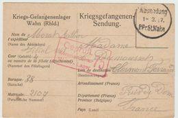 Carte De Prisonnier De Guerre 01/03/1917- St WAHN - Kriegsgefengenen-Sendung  ( Ref 515 ) - 1. Weltkrieg 1914-1918