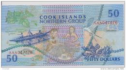 COOK ISLANDS P. 10a 50 D 1992    XF - Cook