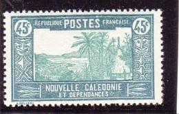 Nlle Caledonie 1939-40 Case De Chef 45c  N°YT 181 Neuf** - New Caledonia