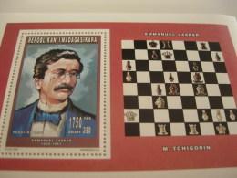 Madagascar-1996-famous People,chess-Emmanuel Lasker-BL.F 269A - Madagascar (1960-...)