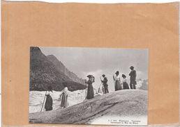 CHAMONIX - 74 - Touristes Traversant La Mer De Glace - LYO1 - - Chamonix-Mont-Blanc