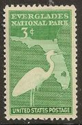 United States 1947 USA Everglades Park Dedication Birds Wildlife Nature Bird Cranes Crane 3c Single Stamp MNH Scott 952 - Etats-Unis