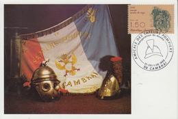 Carte  Amicale   Des   SAPEURS - POMPIERS     CAMBRAI   1986 - Sapeurs-Pompiers