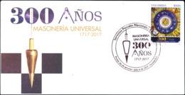 COLOMBIA 2017.07.06 F.D.C.: Masonería Universal 300 Años 1717-2017 - Colombia