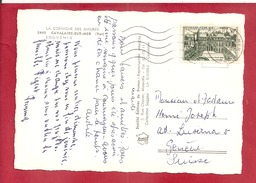Y&TN°1192 CAVALAIRE/MER  Vers   SUISSE  1959  2SCANS - Postmark Collection (Covers)