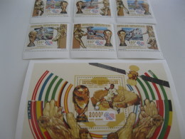 Central Africa-1998-famous People- Kennedy-MI.1996-2004 - Centrafricaine (République)