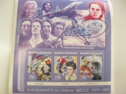 Central Africa-2000-events1960-70,famous People-De Gaulle,Armstrong-MI.2594-96 - Centrafricaine (République)
