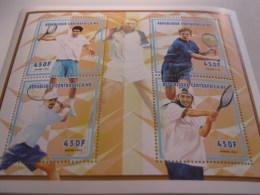 Central Africa-1998-sport-tennis Man-MI.2055-58 - Central African Republic