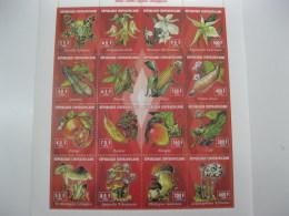 Central Africa-1994-fauna Flora,fruits,vegetables,mushrooms,flowers-MI.1568-83 - Centrafricaine (République)