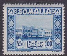 Somalia Scott 177 1950 55c Blue Governor Palace, Mint Never Hinged - Somalie (AFIS)
