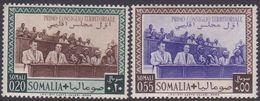Somalia Scott 181-182 1951 First Territorial Council Meeting, Mint Never Hinged - Somalia (AFIS)