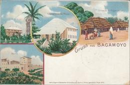 DOA: Ansichtskarte Aus Bagamoyo 1898 über Tanga Nach Berlin - Colonia: Africa Orientale