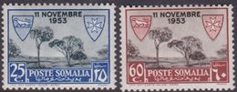 Somalia Scott 195-196 1954 Lepers Care Convention, Mint Never Hinged - Somalia (AFIS)