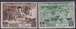 Somalia Scott 205-206 1955 Third Somali Fair, Mint Never Hinged - Somalia (AFIS)