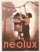 Buvard Publicité Ampoule Neolux - Electricité & Gaz