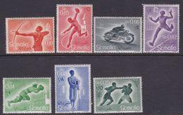 Somalia Scott 221-227 1958 Sports, Mint Never Hinged - Somalie (AFIS)