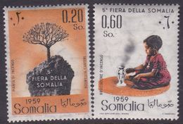 Somalia Scott 234-235 1959 5th Somali Fair, Mint Never Hinged - Somalia (AFIS)