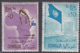 Somalia Scott 243-244 1960 Independence, Mint Never Hinged - Somalia (AFIS)