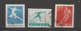 Pologne 1954   N° 733 / 35     Oblitérés  Série Compléte  Sport - 1944-.... República
