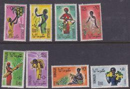 Somalia Scott 250-257 1961 Definitives, Mint Never Hinged - Somalia (AFIS)