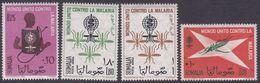 Somalia Scott 263-264 + C85-86 1962 Malaria Eradication, Mint Never Hinged - Somalia (AFIS)