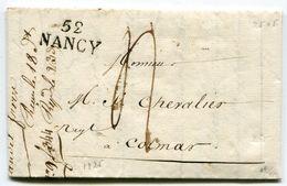 MEURTHE ET MOSELLE De TOMBLAINE  LAC Du 16/03/1825 Linéaire De NANCY   25x11,5 + Taxe De 4 Pour COLMAR - Storia Postale