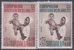 Somalia Scott B52-53 1957 2nd Campaign Against Tuberculosis, Mint Never Hinged - Somalia (AFIS)